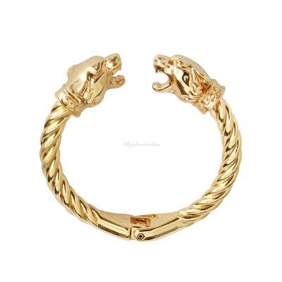 Bracelete Duplo Tigre Torcido Dourado