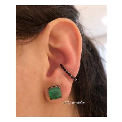 Piercing Ear Hook Negro (Unitário)