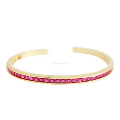 Bracelete Shine Ouro - Pink