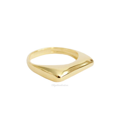 Anel Flat Liso Ouro