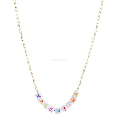 Colar New Beads Nome - Personalizado