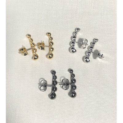 Brinco Ear Hook Bolinhas Lisas - Cores
