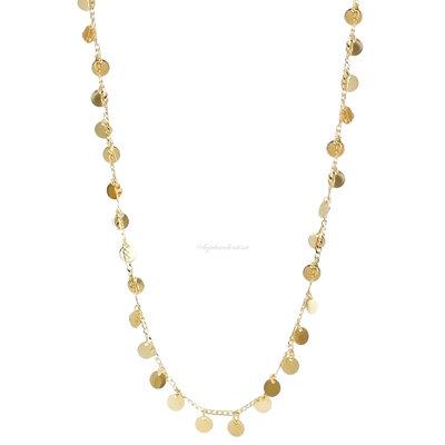 Colar Gipsy Moedinhas Ouro - 45 cm