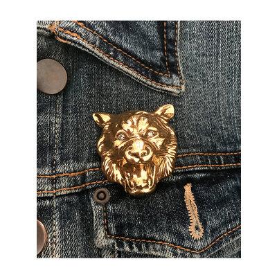 Broche Lobo Dourado