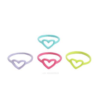 Anel Pop Colors - Coração