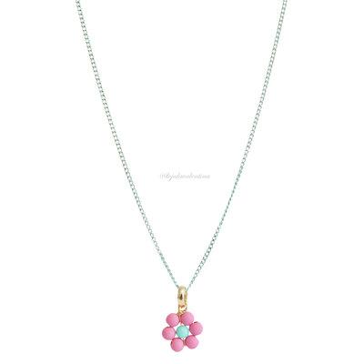Colar Delicado Blooming Colors - Flor Rosa