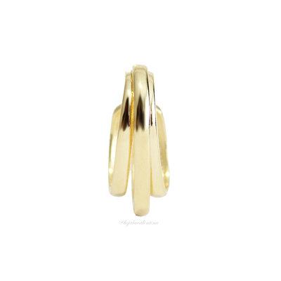 Piercing Ear Hook Fake Triplo Ouro - UNITÁRIO