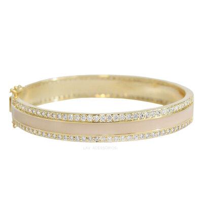 Bracelete Esmaltado Shine - Areia