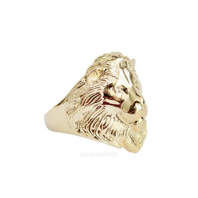 Anel Leão Ouro
