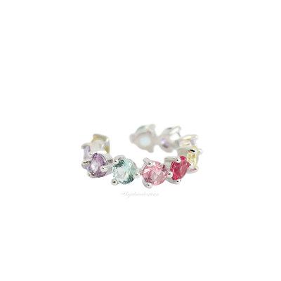 Piercing Fake PRATA 925 Dots Candy Colors