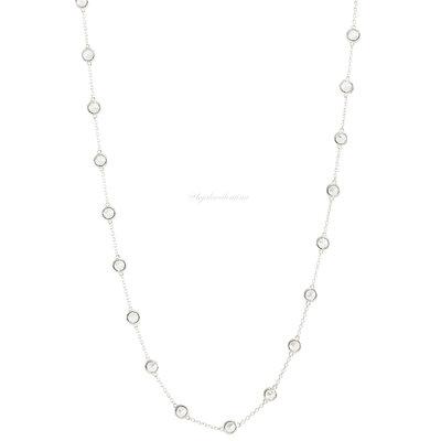 Colar Tiff Prata 925 Multi Zirconias - 80 cm