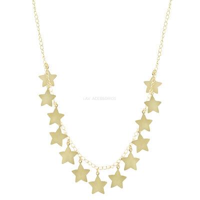 Colar Estrelas Douradas