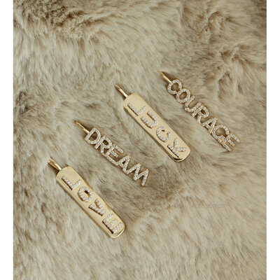 Pingente Prata 925 DREAM - Dourada