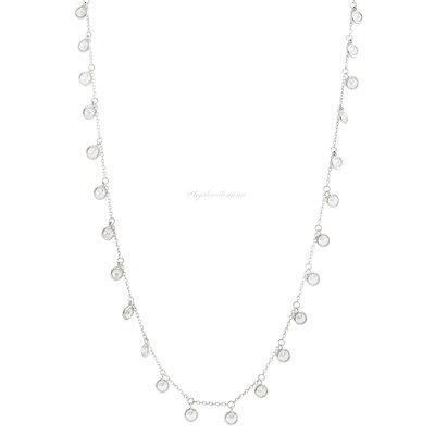 Colar Tiff Ciganinha Prata 925 Multi Zirconias - 50 cm