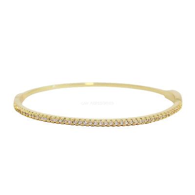 Bracelete Slim Cravejado Ouro