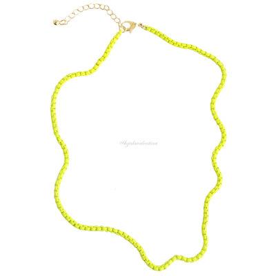 Colar Slim Colors Amarelo c/ Extensor