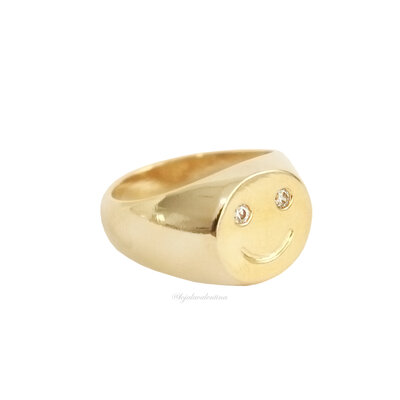 Anel Fun Smile Ouro