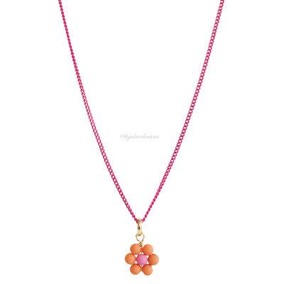 Colar Delicado Blooming Colors - Flor Laranja