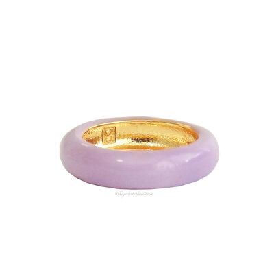 Anel Fun Esmaltado Ouro - Lilac