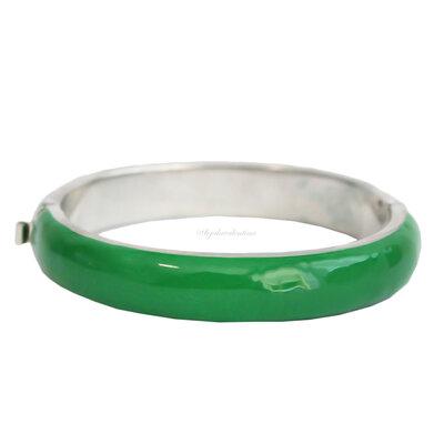 Bracelete Duo Esmaltado - Verde e Turquesa