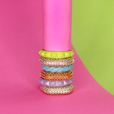 Anel Pop Colors - Spikes