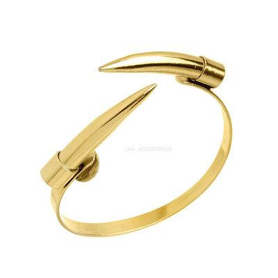 Bracelete NÁDIA GIMENES Dente Metal - Ouro