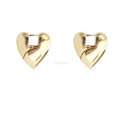 Argola Coração Click Ouro