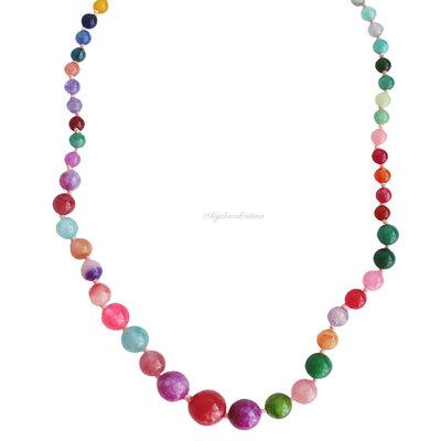 Colar Pedras Naturais Multi Colors
