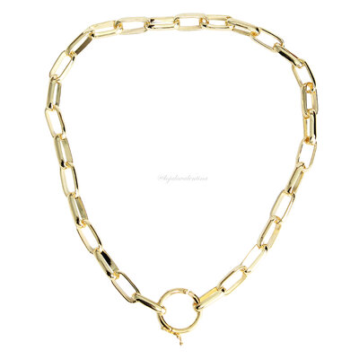 Colar Cartier Oval Locker - Ouro 18k