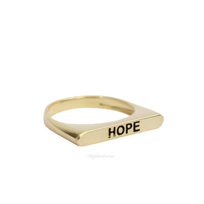 Anel Flat HOPE Ouro