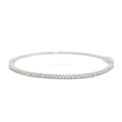 Bracelete Slim Cravejado Ródio