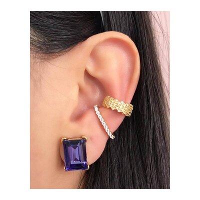 Piercing Ear Hook Ouro (Unitário)