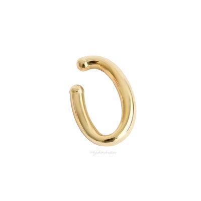Piercing Ear Hook Fake Tubo Jumbo Ouro MAIOR - UNITÁRIOS