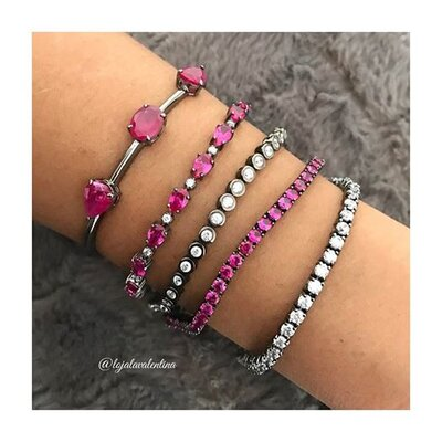 Bracelete Negro Formas Fusion - Rubi