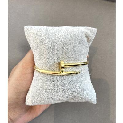 Bracelete Prego Liso - Ouro