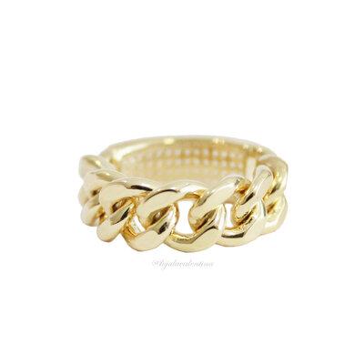 Anel PRATA 925 Chain Glam Ouro