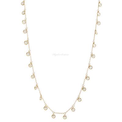 Colar Tiff Ciganinha Prata 925 Multi Zirconias - 50 cm Ouro