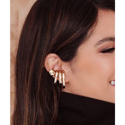 Piercing Ear Hook Fake Tubo Jumbo Ródio MENOR - UNITÁRIOS