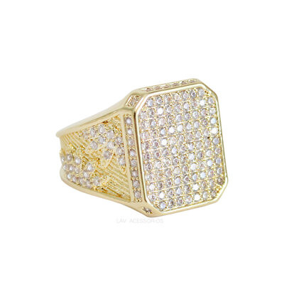 Anel Octagonal Shine - Ouro