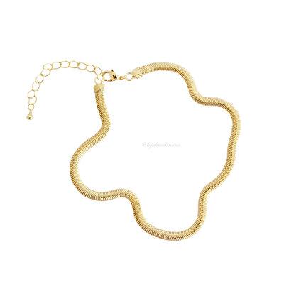 TORNOZELEIRA Malha Vintage Ouro - 24 cm