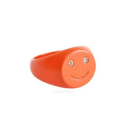Anel Dedinho Pop Colors Smile - Laranja