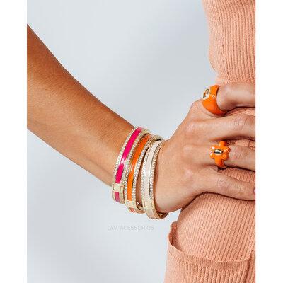 Bracelete Esmaltado Shine - Pink