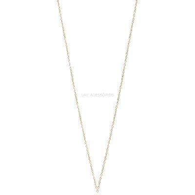 Corrente Avulsa Delicada Prata 925 Banho Ouro - 45 cm