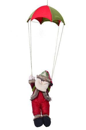 Boneco Papai Noel no Paraquedas