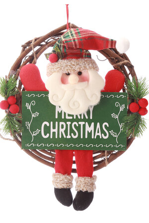 Guirlanda Papai Noel com Plaquinha e Pernas