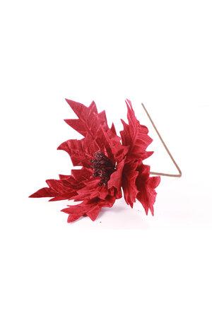 Flor Luxo Poinsettia Vinho