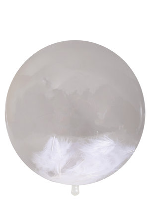 Balão Bubble Clear com Penas