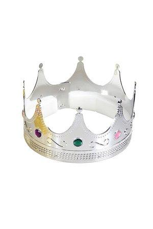 Coroa de Rei/Rainha Plástica Super Luxo
