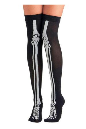 Meia Esqueleto Halloween