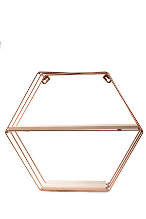 Prateleira Hexagonal de Metal